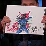 Benedict Cumberbatch's Drawing of Doctor Strange