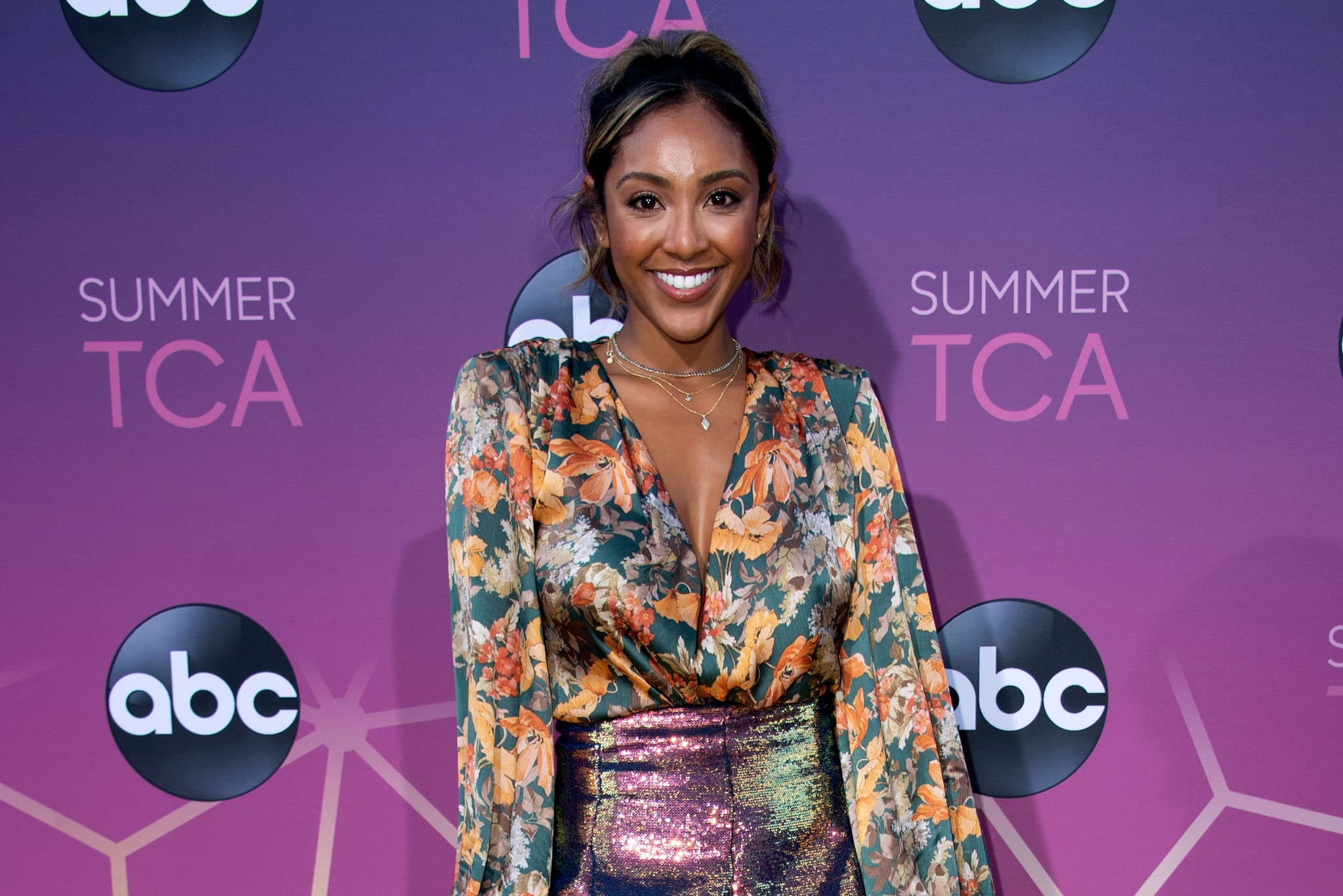 TV reality star Tayshia Adams attends the ABC