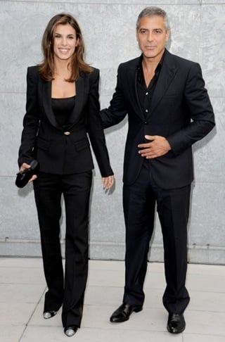 George Clooney and Elisabetta Canalis Wear Black Suits