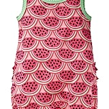 In what may very well be Old Navy's best baby creation of the Summer, this Watermelon One-Piece features the cutest all-over print, a ruffled bottom, and delicate trim. Did we mention that it's only $15?!