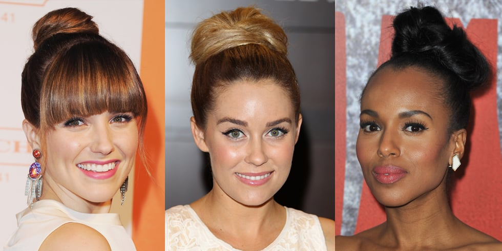 Top Knot Hairstyle | Celebrity Pictures