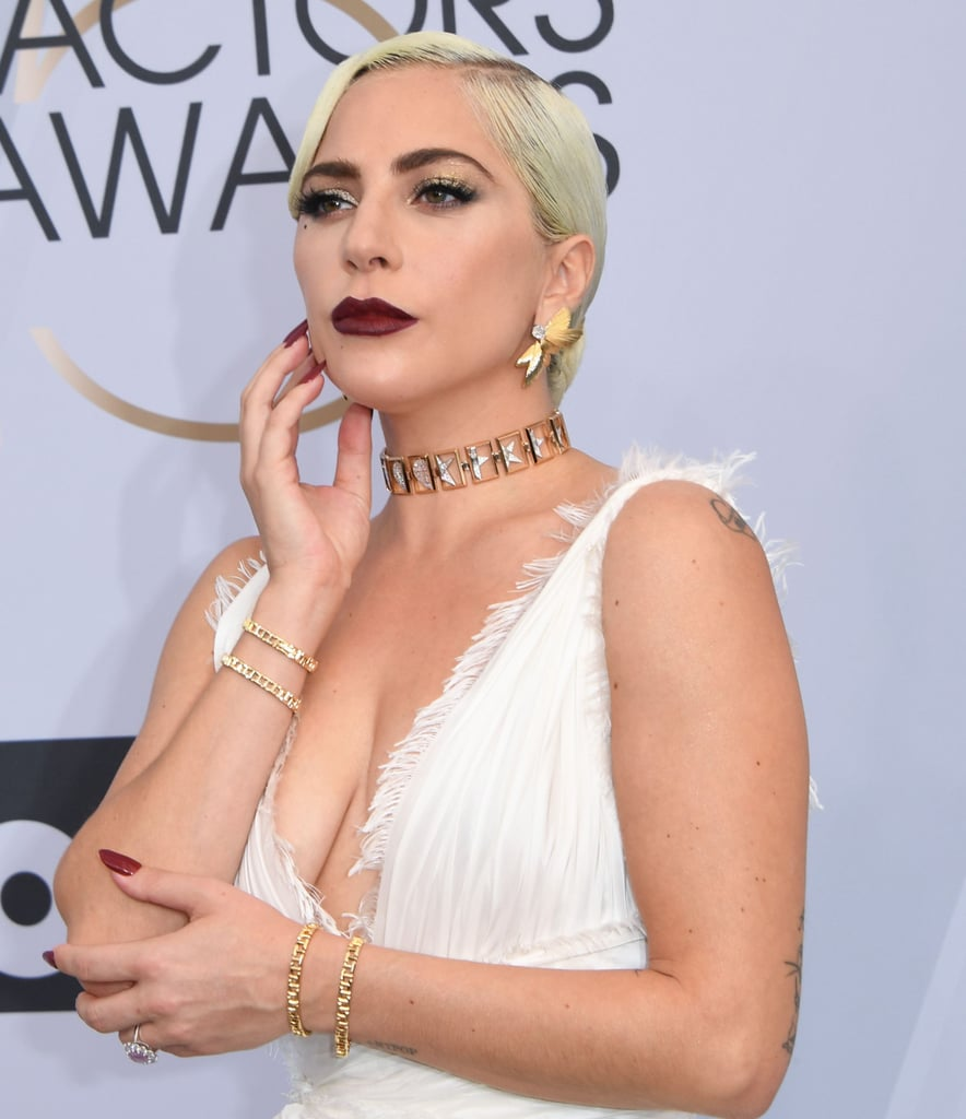 Lady Gaga | SAG Awards Red Carpet Makeup 2019 | POPSUGAR Beauty UK ...