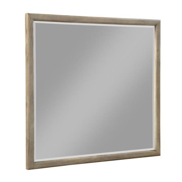 Modus Furniture Medium Rectangle Antique Mocha Beveled Glass Contemporary Mirror