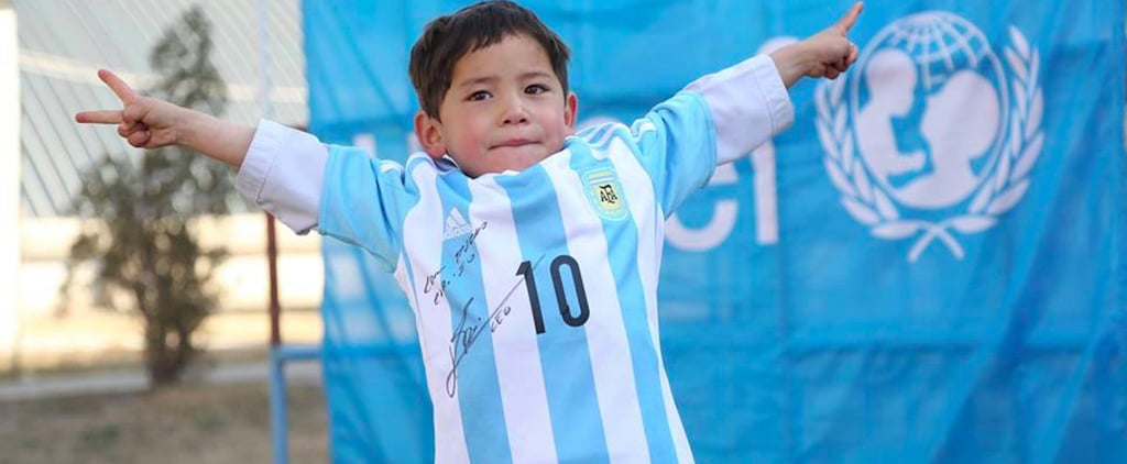 Afghani Boy Meets His Hero Lionel Messi