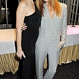 Stella McCartney and Kate Hudson hugged for a photo.