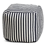 Indoor and Outdoor Stripe Pouf