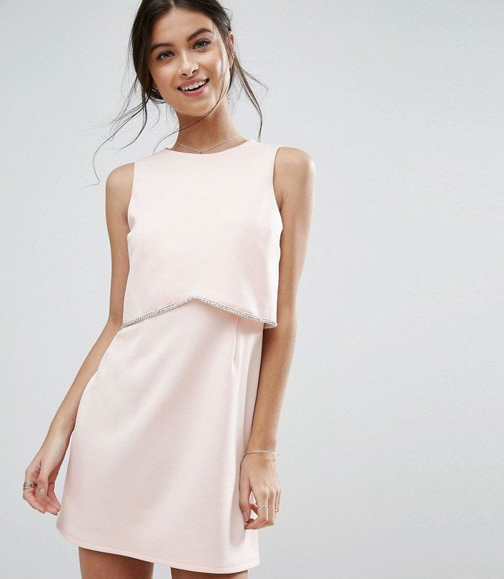Asos Scuba Crop Top With Embellished Trim Minidress | Asos Wedding ...