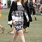 Mischa Barton made her way around the fields at Coachella in 2013.