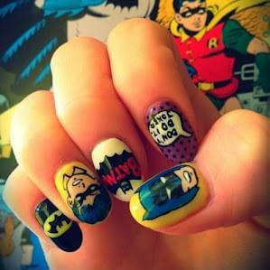 Superhero Nail Art Inspired By Comic-Con
