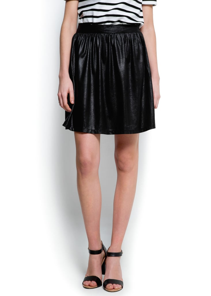 Feel like taking a break from your constructed pencil skirts? Give Mango's roomy black skirt ($35, originally $70) a chance.