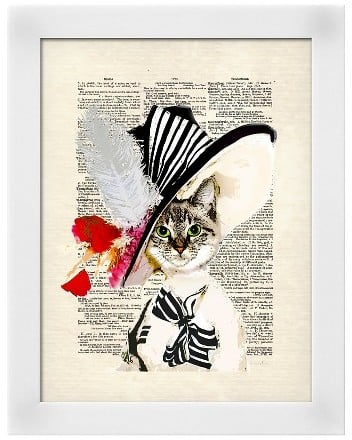 Art.com Audrey Cat Framed Art Print