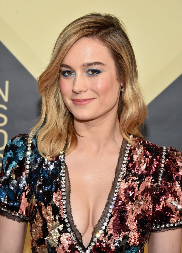 Brie Larson's Celestial Look Will Convince You to Dig Out Your Blue Eye Shadow