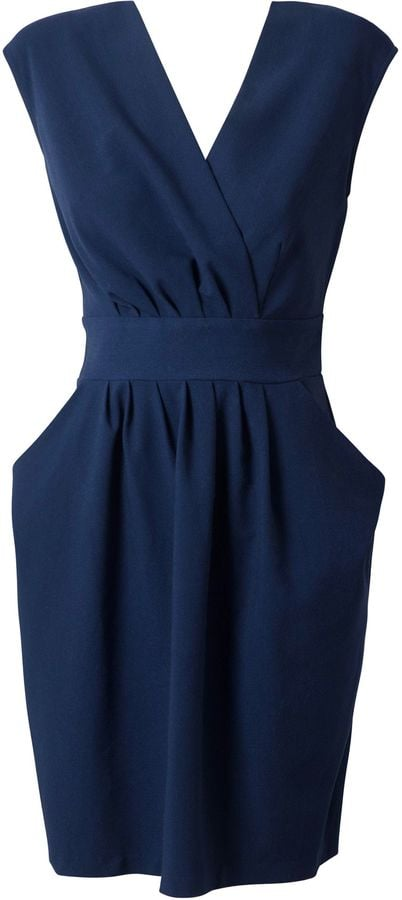 Closet pleat crossover tie back dress (£45)