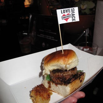 Tim Love's Elk Burger at the 2011 South Beach Burger Bash