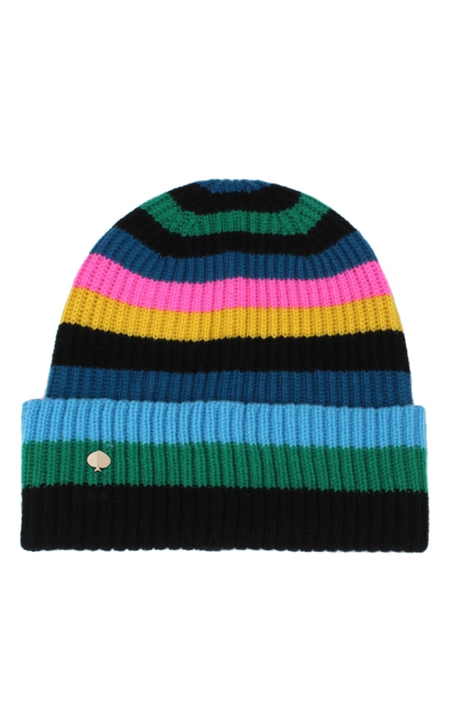 Kate Spade New York Enchanted Stripe Merino Wool Beanie