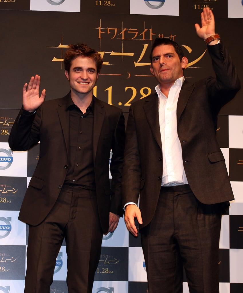 Photos of Robert Pattinson Promoting New Moon in Japan