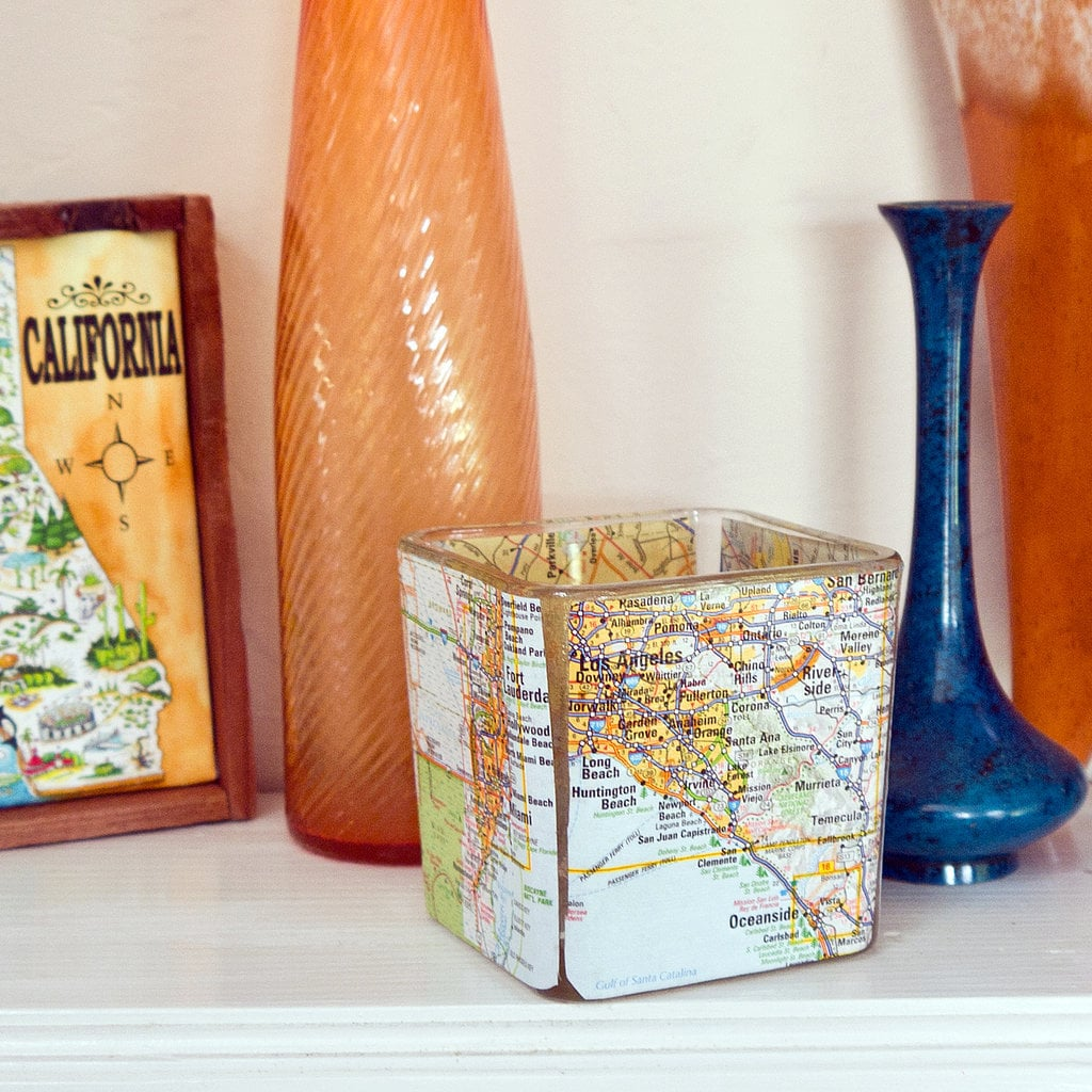 DIY Map Votive