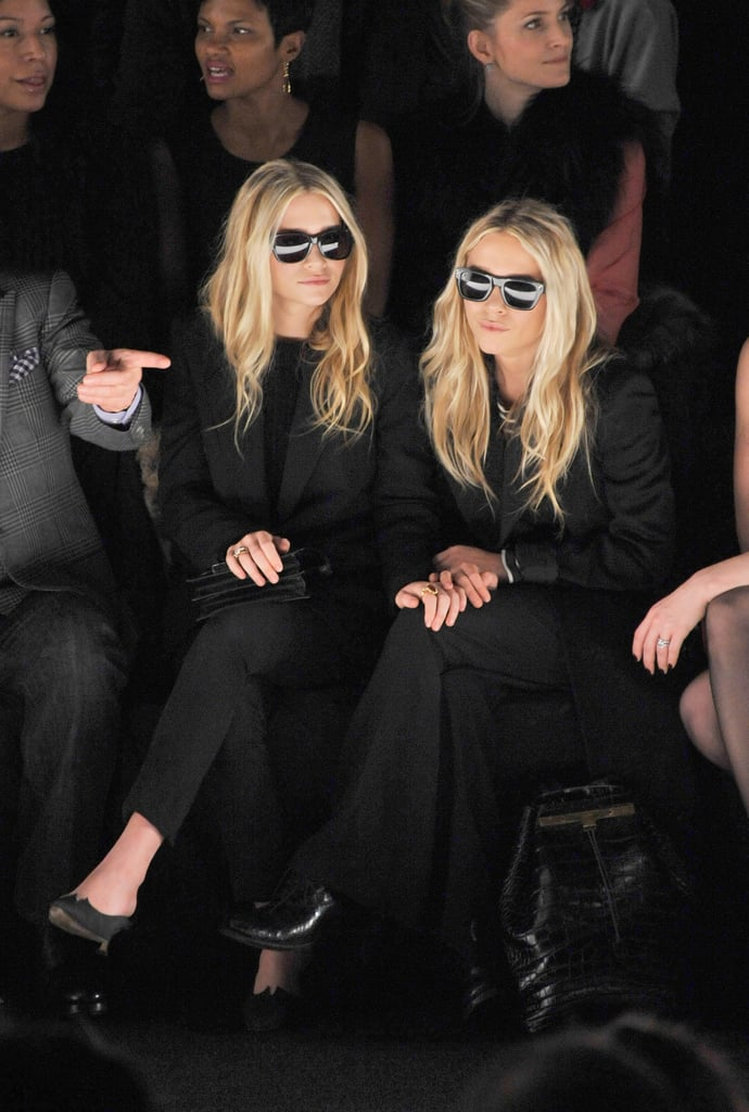 Mary-Kate and Ashley Olsen sat front row at NYFW.