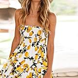 Angashion Lemon Dress