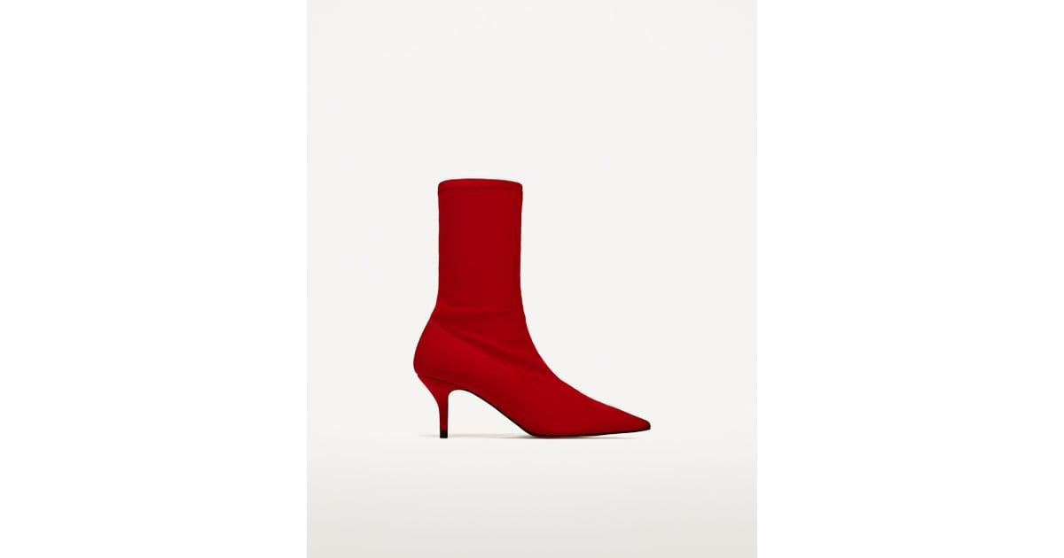 6f728f1bafc Zara Fabric High Heel Ankle Boots ( 70)