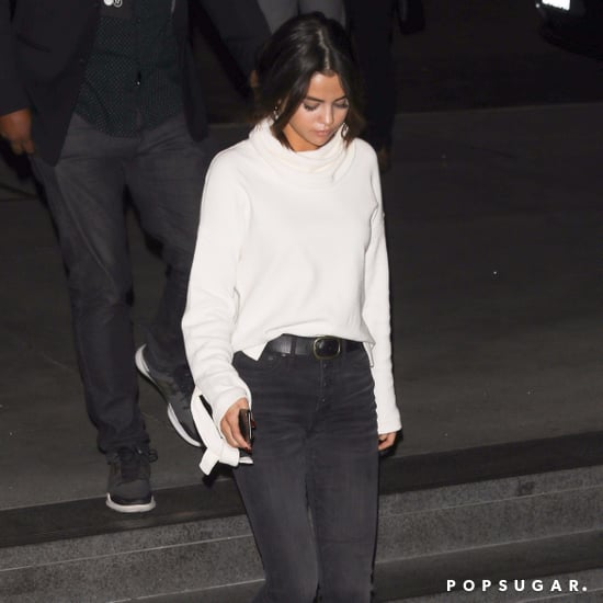Selena Gomez Wears Madewell Sweater and Jeans