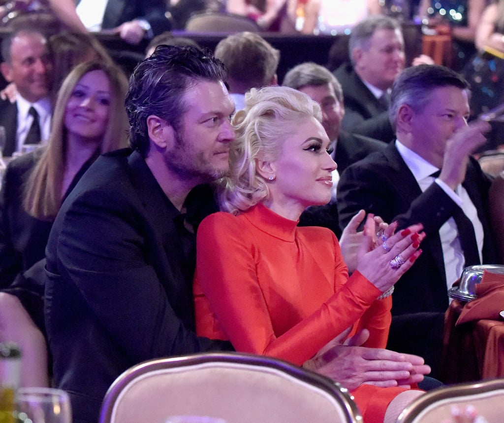 Gwen Stefani and Blake Shelton at Clive Davis Party 2016 ...