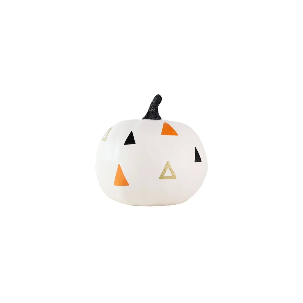 Small Halloween Pumpkin Cream with Painted Triangles