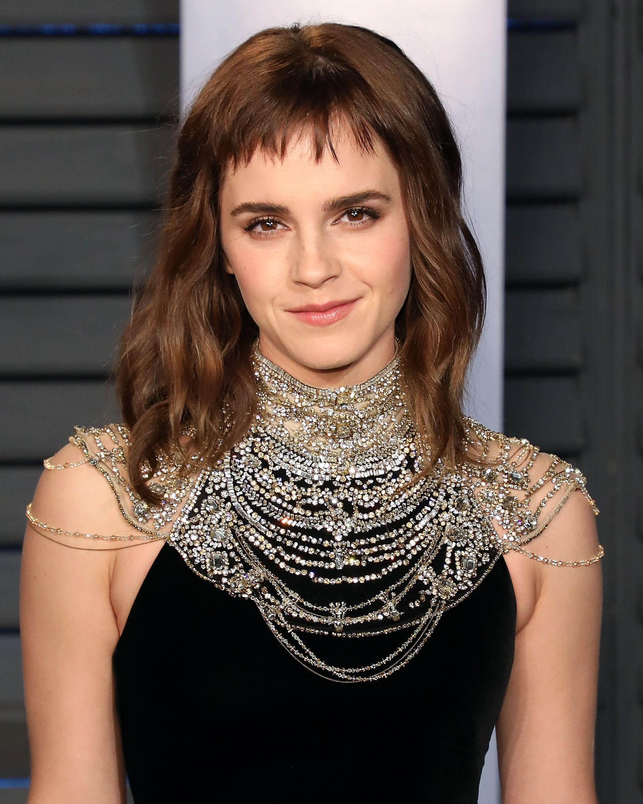 emma watson hair at the 2018 oscar awards | popsugar beauty