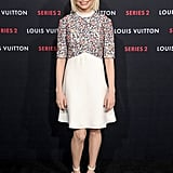 Michelle Williams returned to the red carpet at Louis Vuitton's party in LA on Thursday.