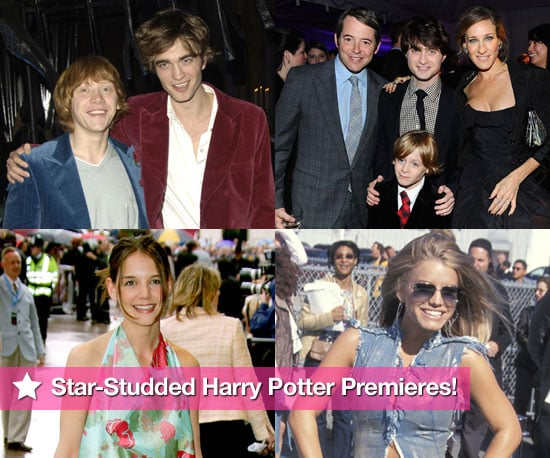 Robert Pattinson, Katie Holmes, Jessica Simpson and Other Celebrities at Harry Potter Premieres