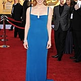 Bright blue Calvin Klein at the 2012 SAG Awards.