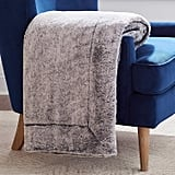 Rivet Faux Fur Throw Blanket