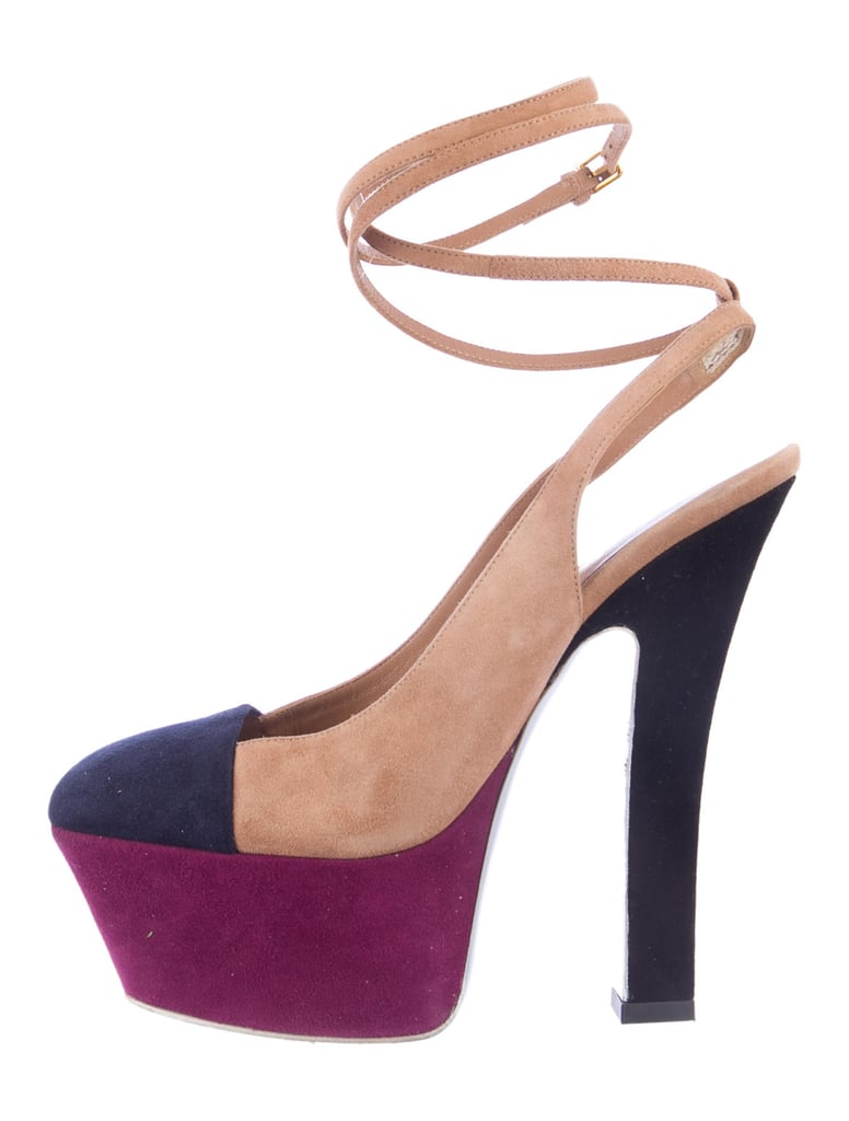 57e6052f8fd Yves Saint Laurent Colorblock Platform Pumps ($300) | Fall Shoe ...