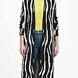 Zebra Duster Cardigan Sweater