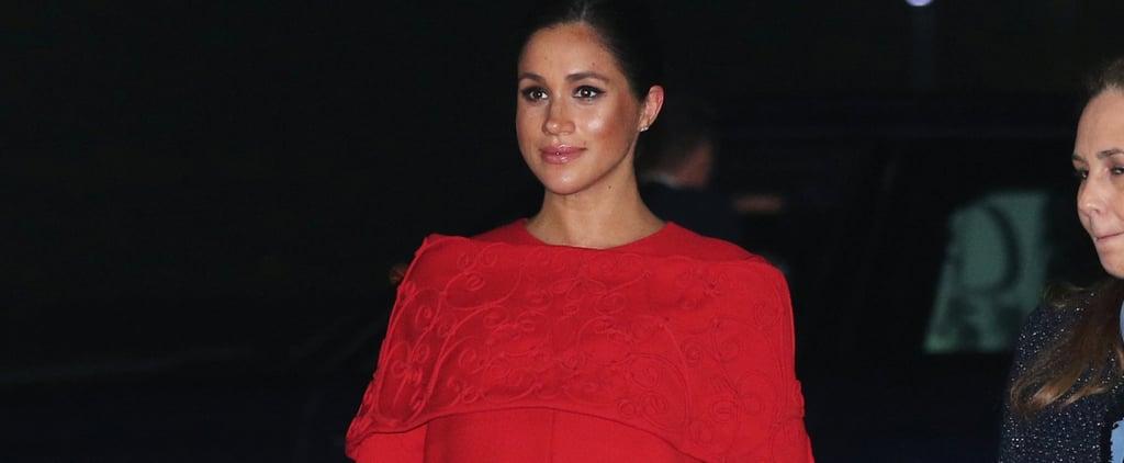 Meghan Markle Wears Red Dress in Morocco Feb. 2019