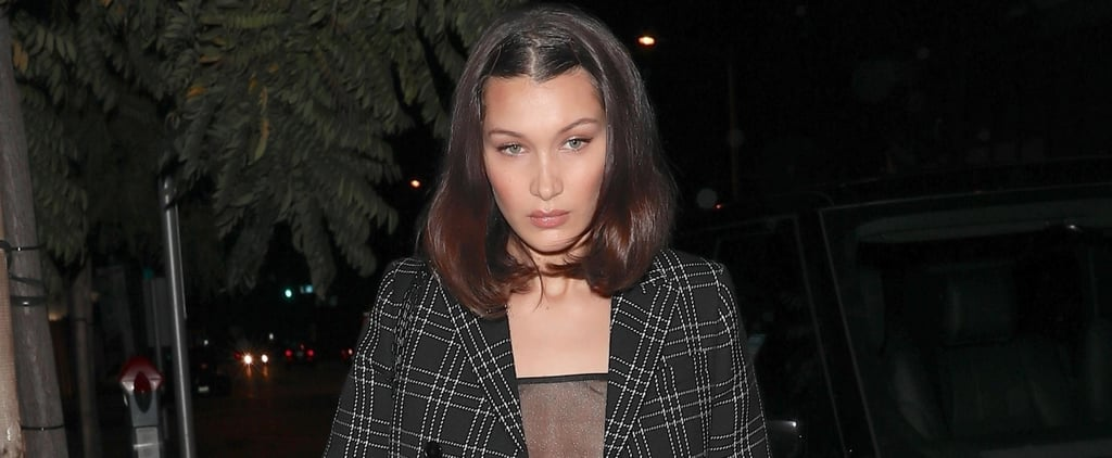 Bella Hadid's Sexy Glitter Top Is So Sheer, It Puts Everything on Display