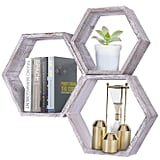 Wall Mounted Hexagonal Floating Shelves