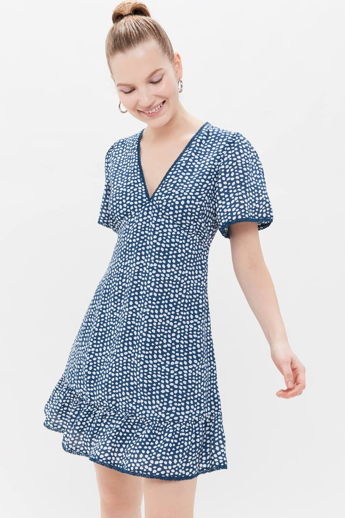 UO Newport V-Neck Mini Dress