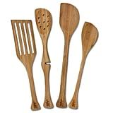 Left-Handed 4-Piece Bamboo Utensil Set