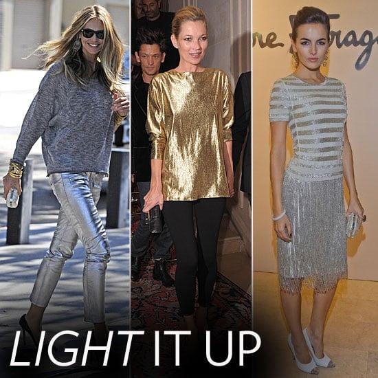 Celebrity Lookbook: Slick, Sparkly Metallics