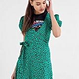 UO Jocelyn Printed Puff Sleeve Minidress