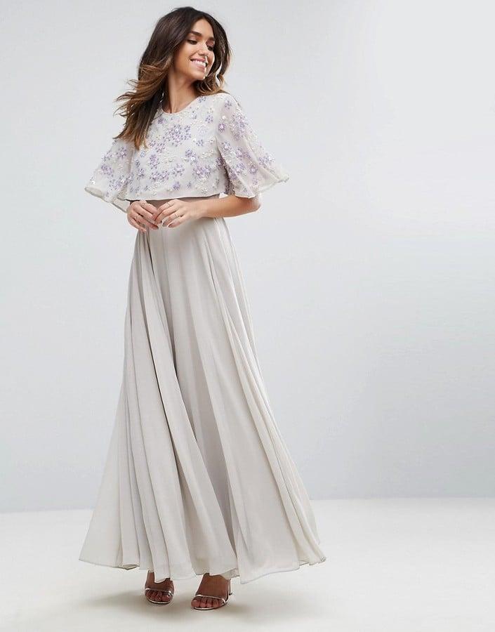 99839cef4fed Asos Embellished Flutter Sleeve Maxi Dress