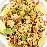 Lime Cilantro Chicken With Mixed Rice and Black Beans