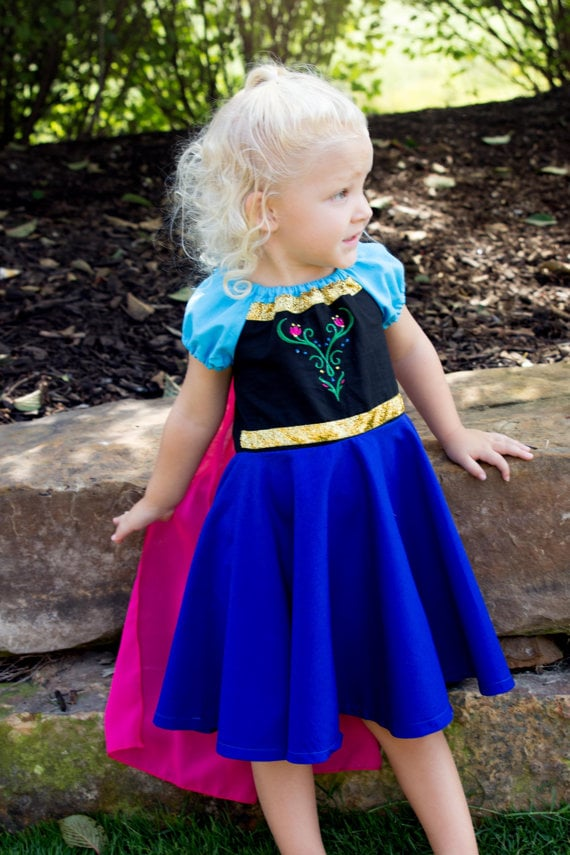 The cape that Anna dons after Elsa's coronation ball is one of the prettiest pieces in the entire Frozen movie, so it's important to nail it this Halloween. Try this Princess Anna Dress ($52).