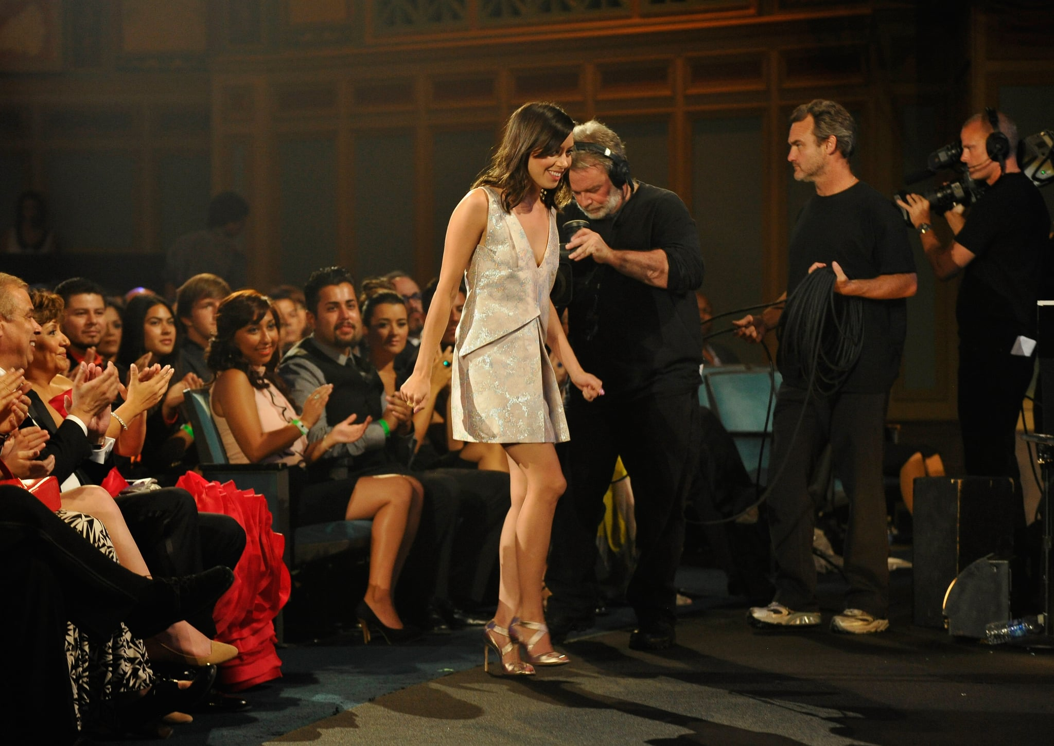 Aubrey Plaza made her way to the stage the ALMA Awards in LA.