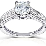 Kobelli Jewelry One Moissanite and Diamond Engagement Ring