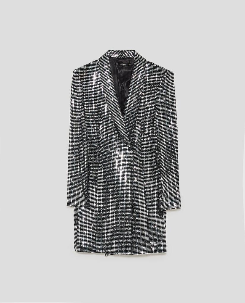 Zara Metallic Blazer Dress