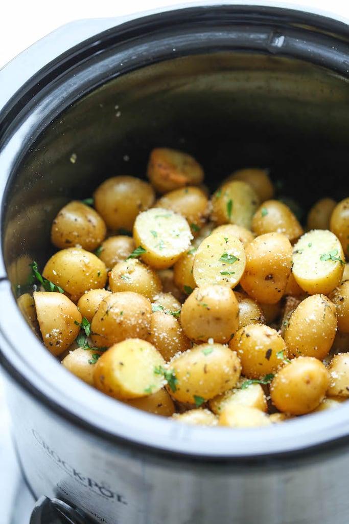 Slow-Cooker Garlic Parmesan Potatoes