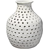 House Stark: Jamie Young Small Porous Vase in Matte White Ceramic