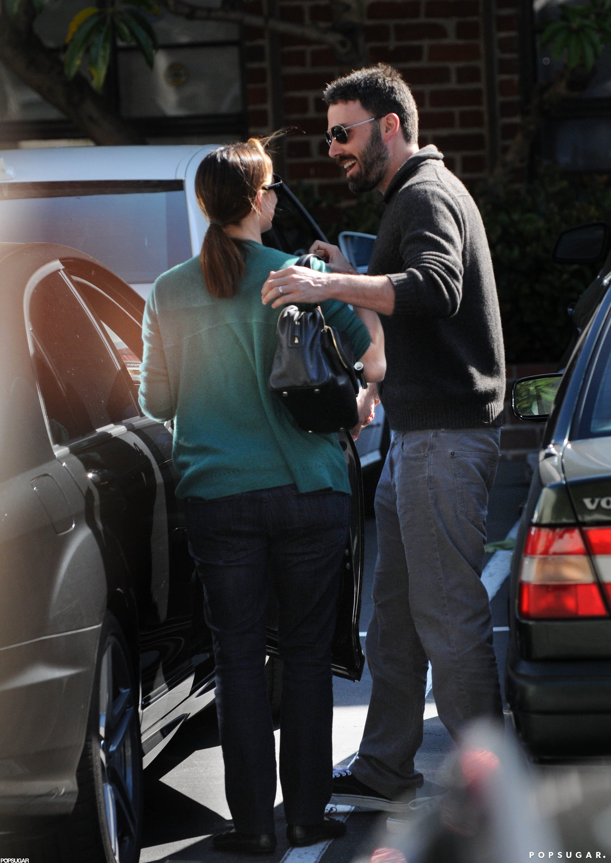 Ben Affleck and Jennifer Garner were affectionate while running errands together in LA.